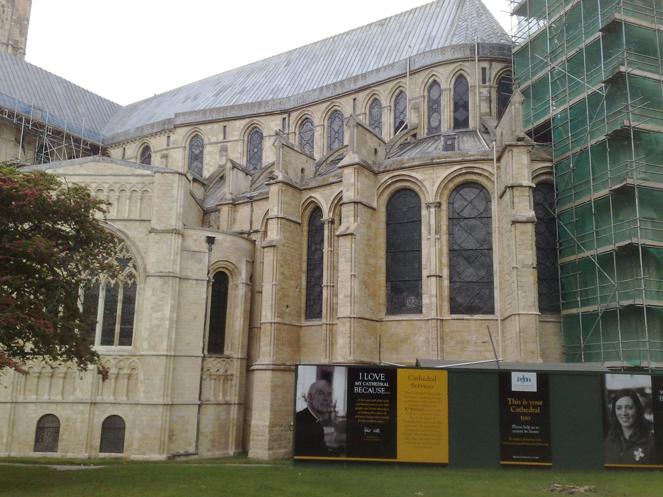 Canterbury Cathedral (undergoing repairs)