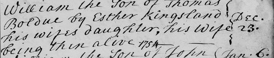 William's father was also his step-grandfather!