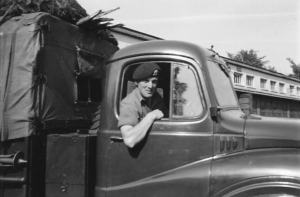 Dad as an army driver during National Service